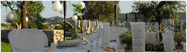 For special celebrations in Majorca - weddings, birthday parties, anniversaries and incentives